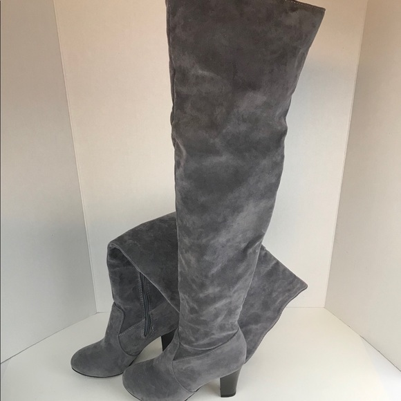 d6204c1c1f Shein Gray Over the knee boots. M_5be872033e0caa3cdb3b8dd9